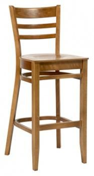 Dallas High Stool with polished seat