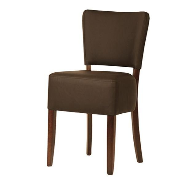 Origin Dining Chair in Dark Brown Faux Leather
