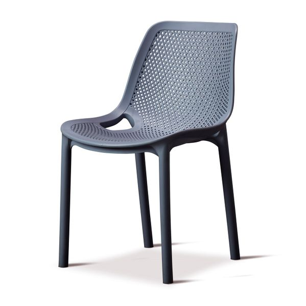 Outdoor Cruz Side Chair in Grey, Black and Red